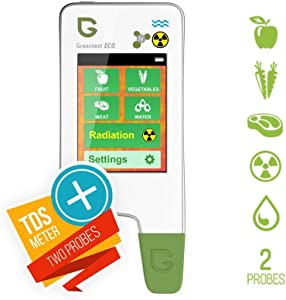 Greentest Eco5 All-in-One Food Nitrate Checker (Fish, Meat, Fruit & Vegetable) + Radiation Detector + Water TDS Meter
