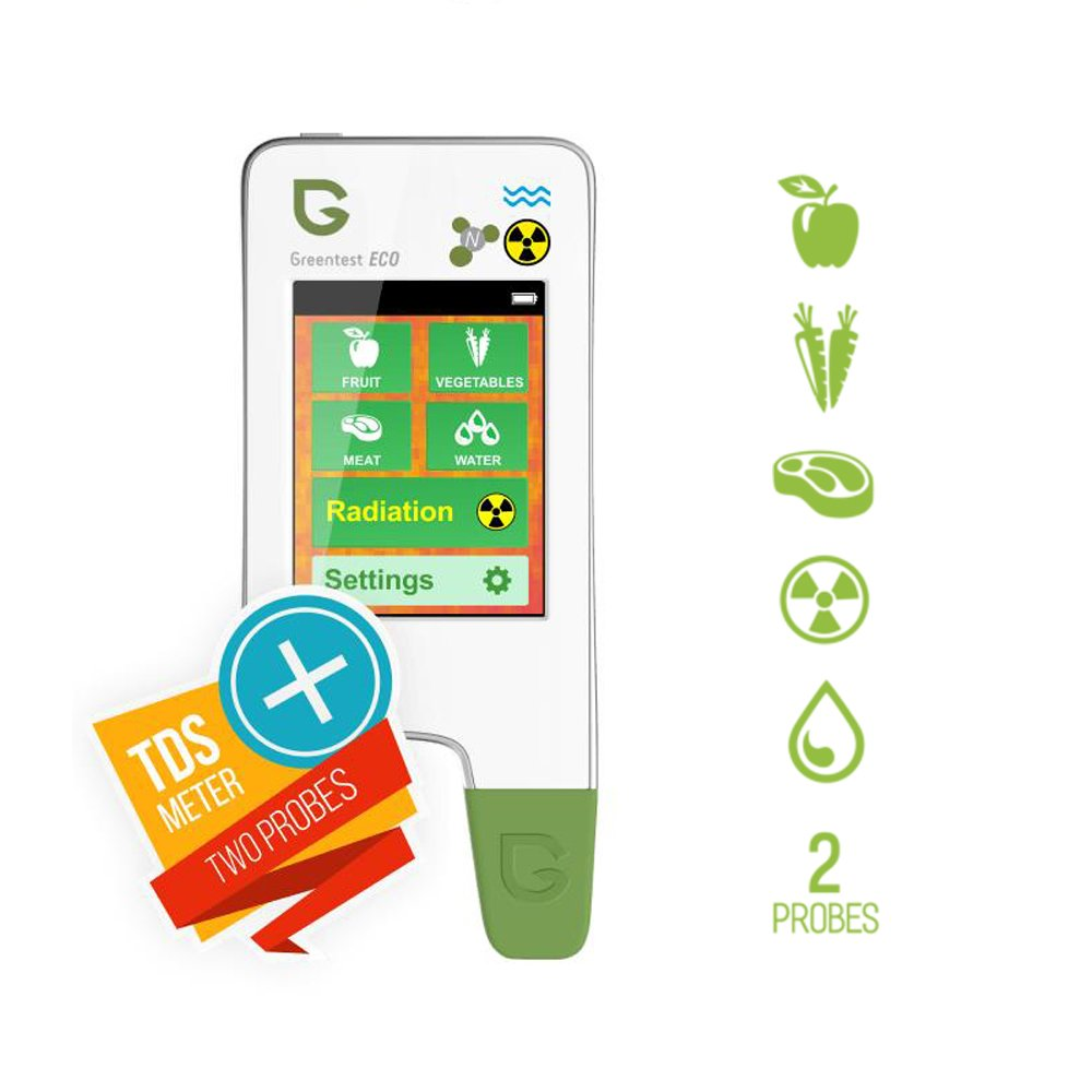 Greentest Eco5 All-In-One Food Nitrate Checker (Meat, Fruit & Vegetable) + Radiation Detector + Water TDS Meter