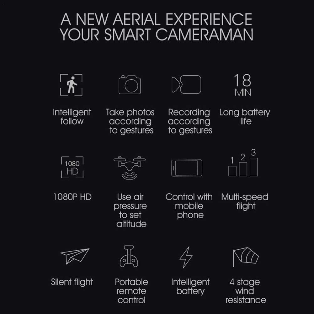 RC Drone Drone Drone 1080P HR Fotografiacute;a aeacute;rea Drone SH7 Remote Control Aircraft Intelligent Follow Gesture Grabacioacute;n de fotos Quadcopter con bateriacute;a Transmisioacute;n en tiempo real Aerial Remote Control Aircraft 255675