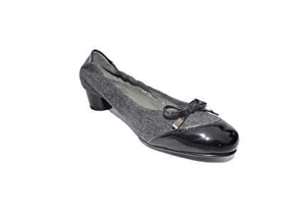 657298047ae Image Unavailable. Image not available for. Color  Stuart Weitzman Women s  Tippence Grey Black Flannel