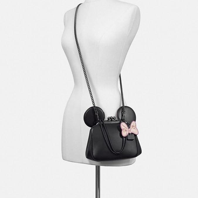 6a146e11675 Amazon.com  Coach x Disney Minnie Mouse Kiss lock Crossbody F29349 Black   Shoes
