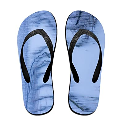 b2fee2ad26586d Jinqiaoguoji Design Casual Ink Painting Draw Water Boat Ink Painting Womens  Sandals Beach Sandals Pool Party