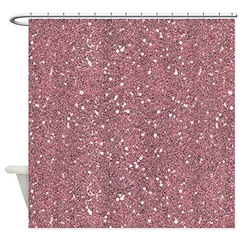 KOiomho Blush Pink Rose Abstract Sparkling Sparkle Glitter Decorative Fabric Shower Curtain (69