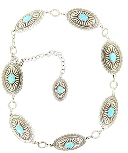 Ariat Accessories Womens Oval Concho Chain Dress Belt