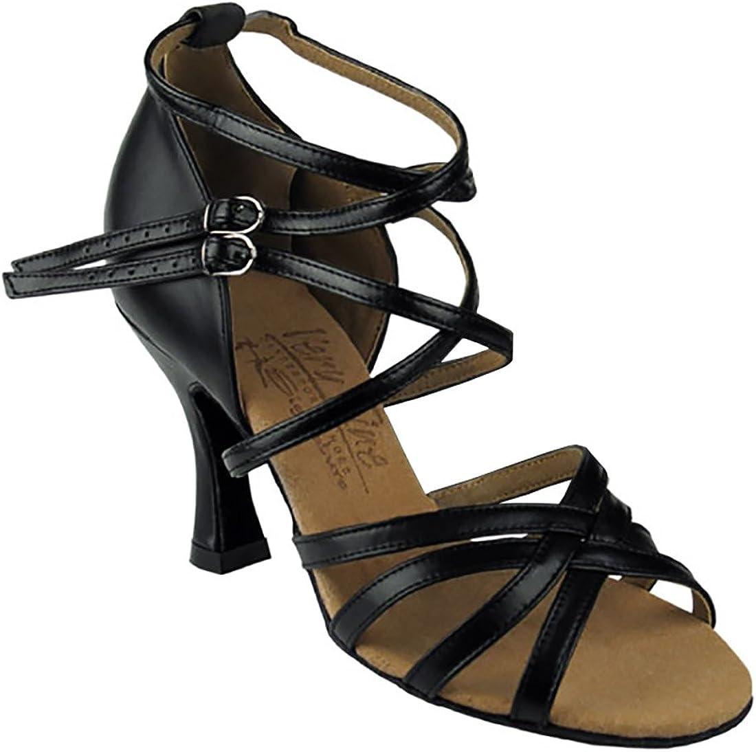 Women/'s Dark Tan Salsa  Dance Shoes Heel 2.5 and 3 Very Fine SERA5008