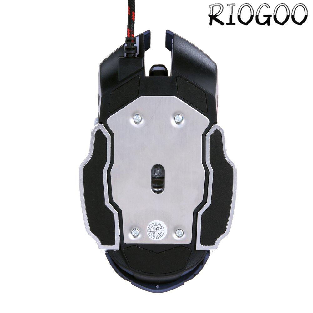 Ordinateur Portable Souris Gamer 2400DPI Souris de Jeu Optical fil Professionnel Gaming Mouse Optical USB avec 6 Boutons New 800//1200//1600//2400 DPI R/églable pour PC