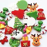 20pcs Christmas Snowflake Tree Resin Flatback Button Art Album Flatback Scrapbooking Embellishments Diy Scrapbooking Craft Accessory