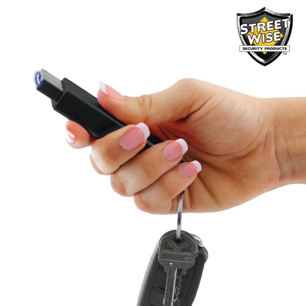 # 1 Key Chain and Stun Gun Rechargeable 20,000,000 LED Flashlight