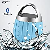 GJT LP-03 Waterproof Wireless Bluetooth Shower Speaker IPX6 Water Resistant,Bathroom,Pool,Boat,Car,Outdoor Use,Rechargable Battery Support TF card and Aux-in Function(BLUE)