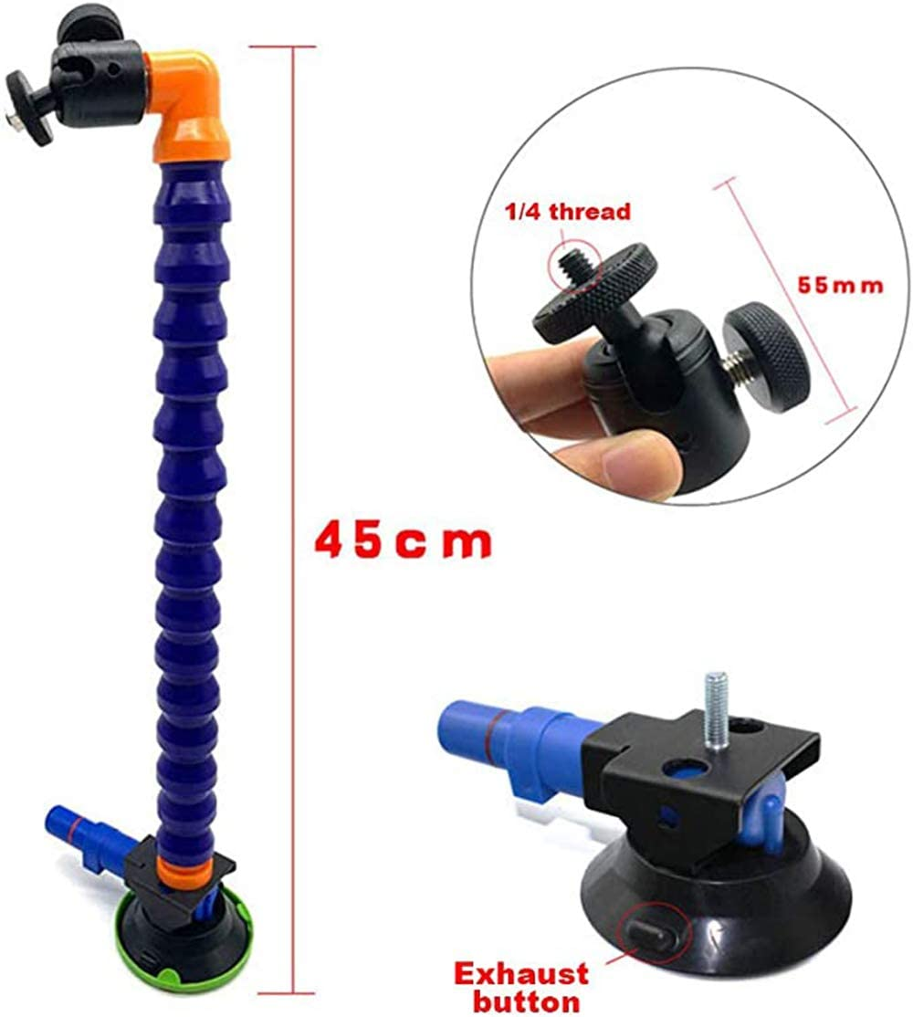 Black, 3 WESYY Nylon Flexible Dent Puller Suction Cup Vacuum Lifter Flexible Air Pumps Dent Repair Suction Car Dent Fixer Lift Repair Dent Tool No Damage to Paint
