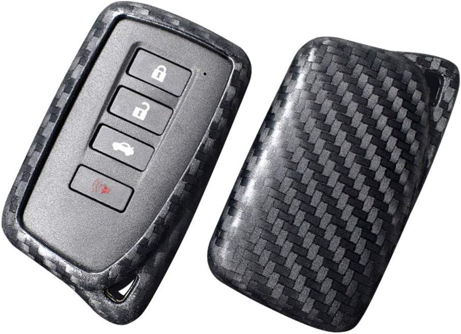 Ceyes Carbon Fiber Texture Protective Key Cover Car Smart Key Cover Car Remote Key Fob Cover for Lexus ES350 ES300h ES250 GS450 GS350 GS200 NX200 NX300H NX200T RX200T RC-F EX300 EX250 EX200