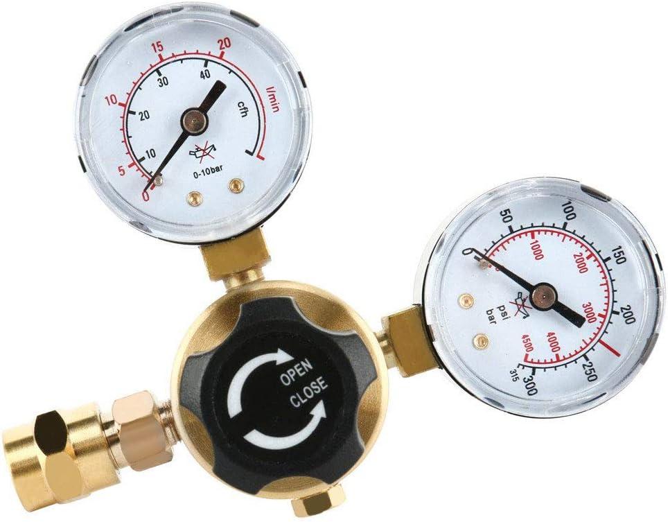 With Hose 4YANG Argon CO2 Regulators Gauges Gas Welding Regulator CGA580 compatible with Miller Lincoln Mig Tig Weld