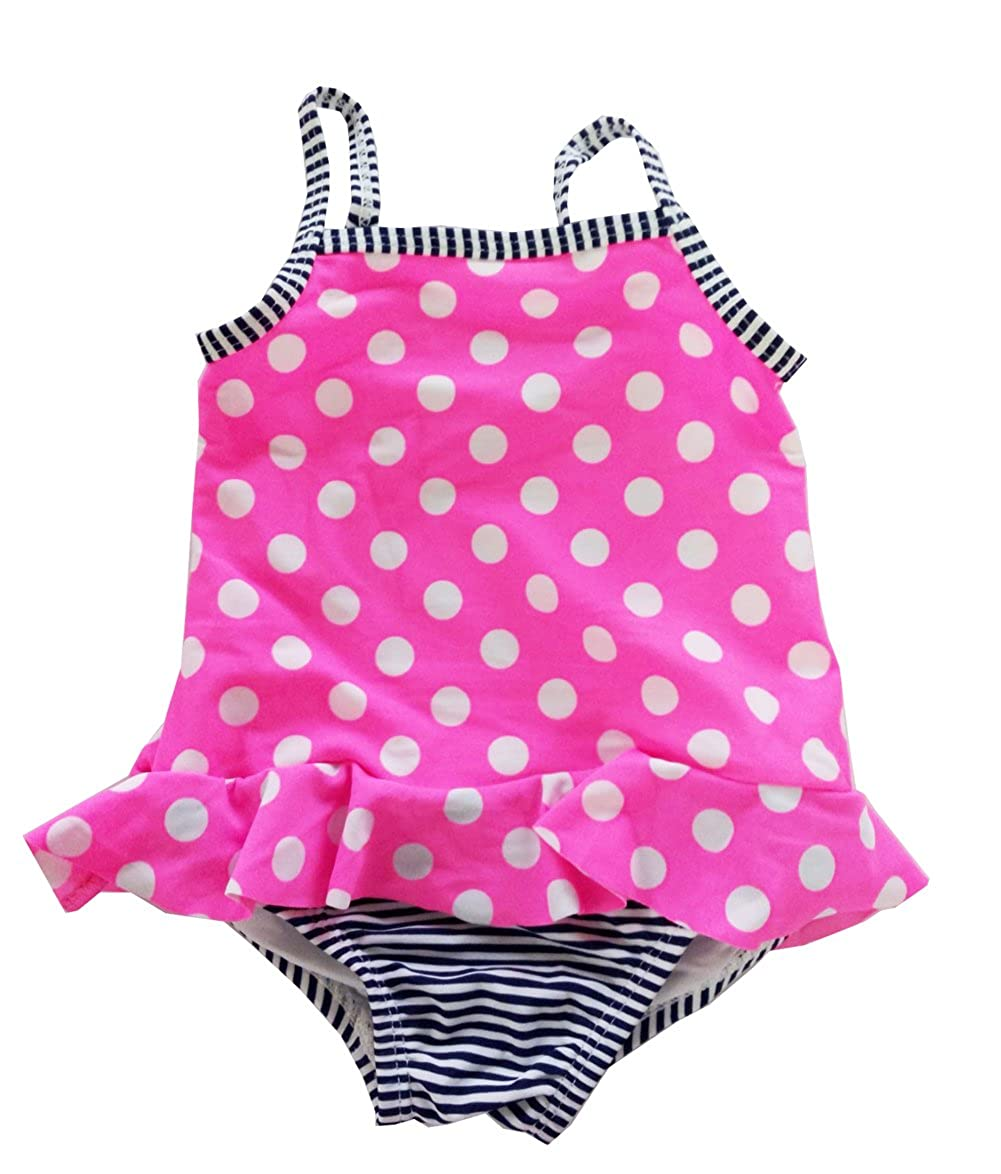 Fashion Baby Infant Baby Girls Polka Dot Striped One Piece Swimwear
