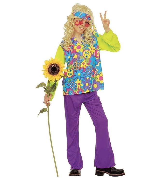 Smiffy/'s Hippie Boys Fancy Dress 60s 70s Groovy Peace Childs Childrens Kids