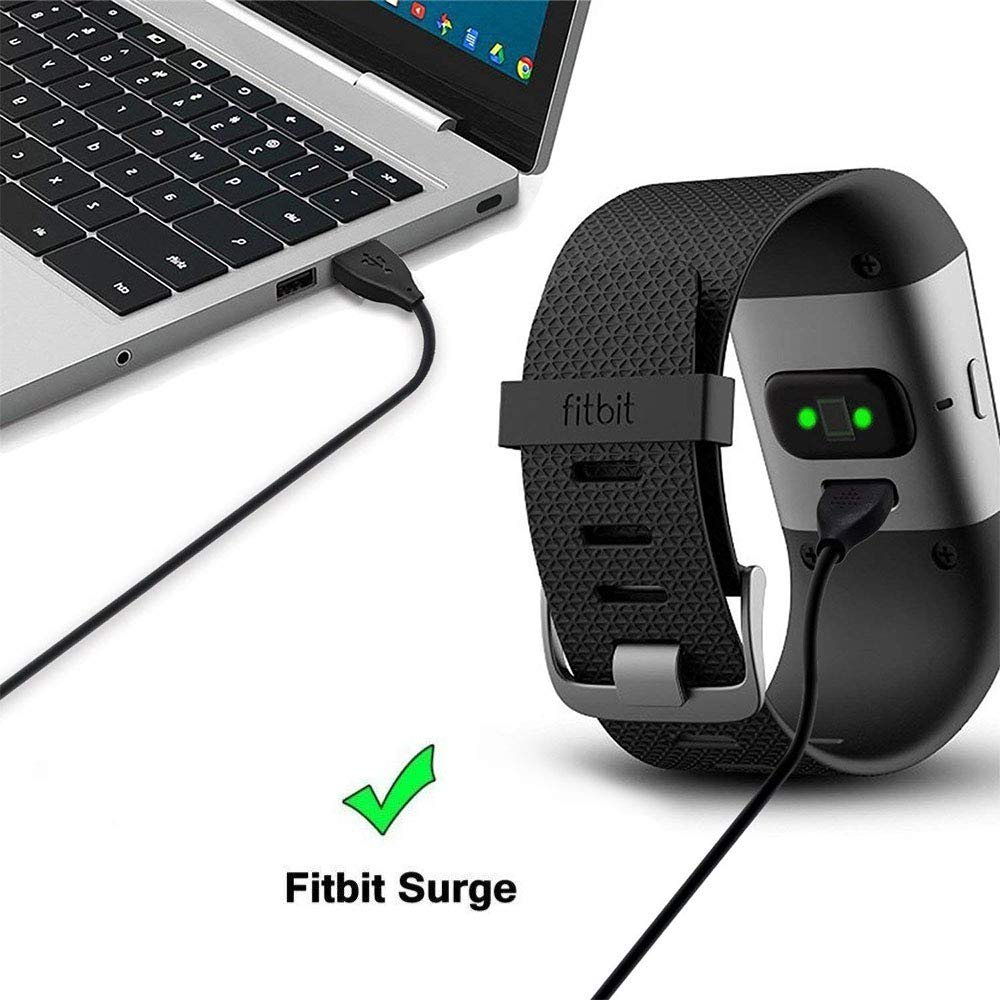 3.3 Foot Replacement Charger Braop Charge Cord for Fitbit Surge 1-Pack Charging Cable Compatible with Fitbit Surge Fitness Tracker Smartwatch Charging Cable Compatible with Fitbit Surge Fitness Tracker Smartwatch 3.3 Foot Replacement Charger