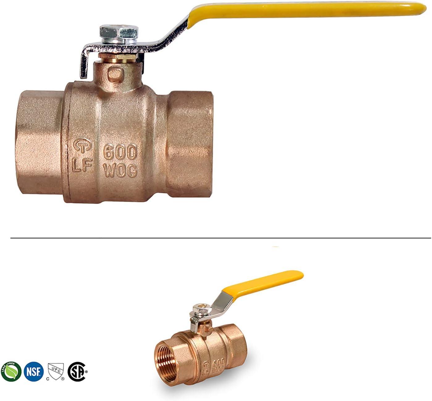1//4,3//8,1//2male and Female Ball Valve External Thread,Brass Ball Valve,Copper Valve DORLIONA 1//4 : 5pcs//lot Copper Fitting