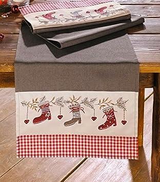 Tischlaufer Weihnachtsstiefel Weihnachten Tischdeko Advent Stiefel