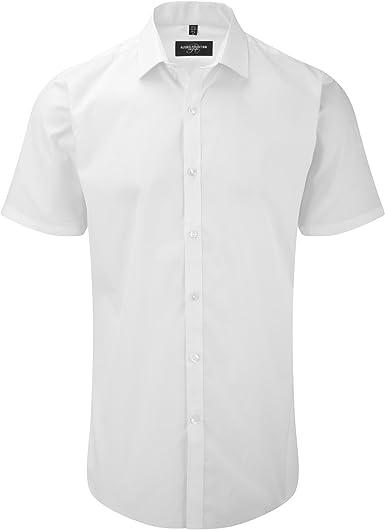 Russell - Camisa Transpirable de Manga Corta elástica Hombre Caballero - Trabajo/Fiesta/Verano: Amazon.es: Ropa y accesorios