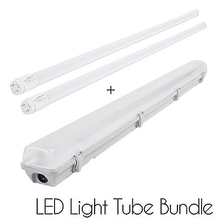 2 x 18w 4 ft 1200mm t8 led tube strip light bundle with opaque cover 2 x 18w 4 ft 1200mm t8 led tube strip light bundle with opaque cover led aloadofball Image collections
