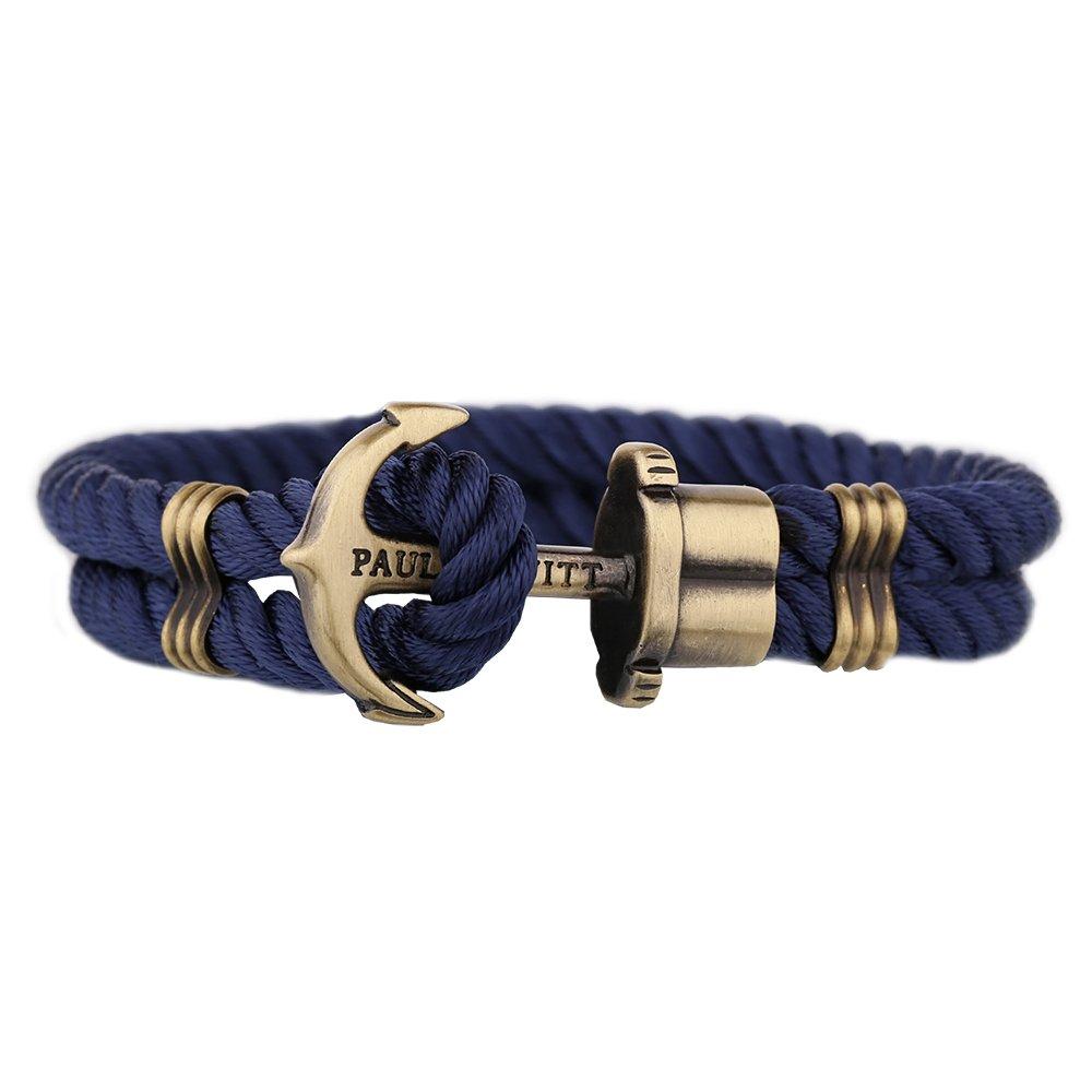 5a0e4806e1d3 Paul Hewitt PHREPS Gold Navy Nylon Anchor Armband PH-PH-N-N-S (17.00 cm)   Amazon.es  Joyería
