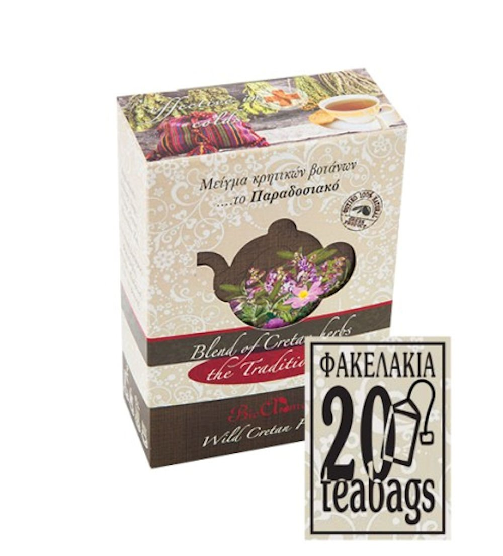 Mixture of Cretan herbs for traditional tea ... 15gr / tea bags