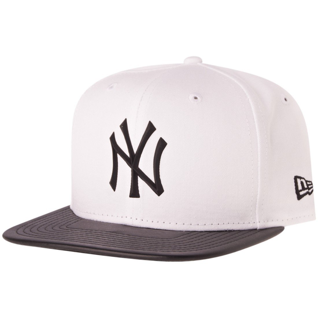 3715a4a7891f30 New Era 9FIFTY Rubber Prime New York Yankees Snapback White Black 80258991  SM: Amazon.co.uk: Clothing