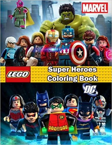 Super Heroes coloring book: Lego Marvel and Dc, this amazing ...