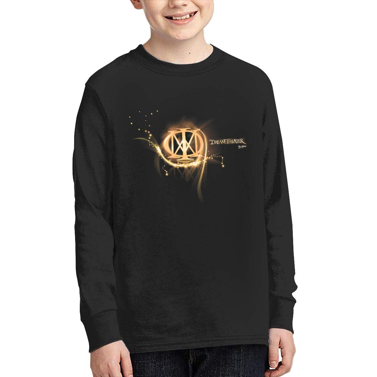 MichaelHazzard Dream Theater Tour 2019 Youth Breathable Long Sleeve Crewneck Tee T-Shirt for Boys and Girls