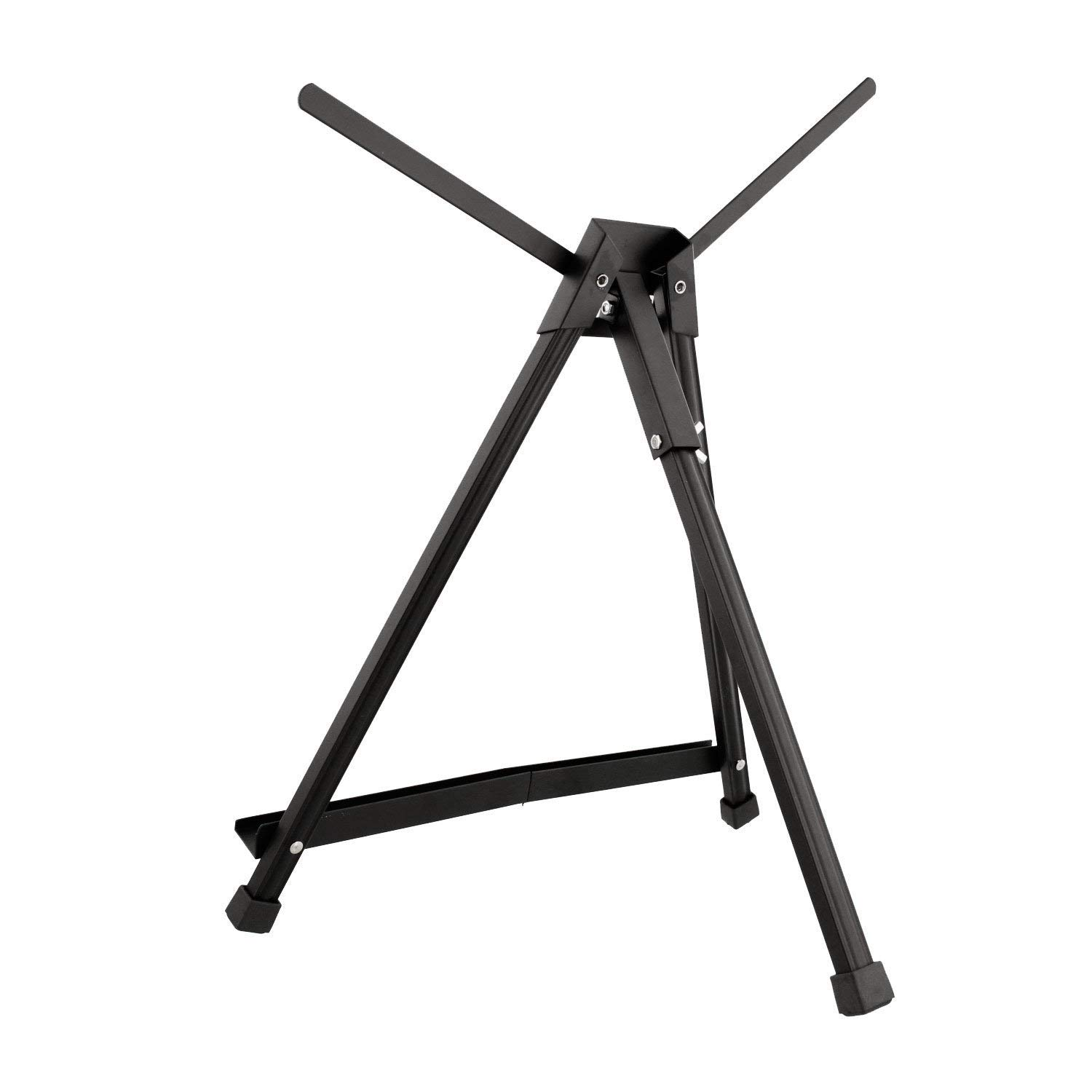 4 PCS CONDA Aluminum Art Table Easel Tri-Pod Display with Rubber Feet,Black,20 x 24 Double Arms
