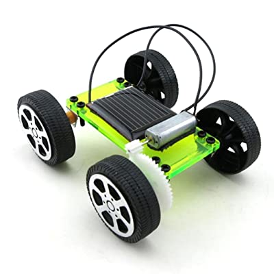 Lookatool 1 Mini Solar Powered Toy DIY Car Kit Children Educational Gadget Hobby: Clothing