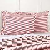 Piper Classics Farmhouse Ticking Stripe Red Standard Sham, 21'' x 27'', Bed Pillow Cover