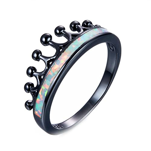 T-Ring Fashion Charming White Fire Opal Ring Vintage Jewelry for Women Wedding Engagement Bridal Rings