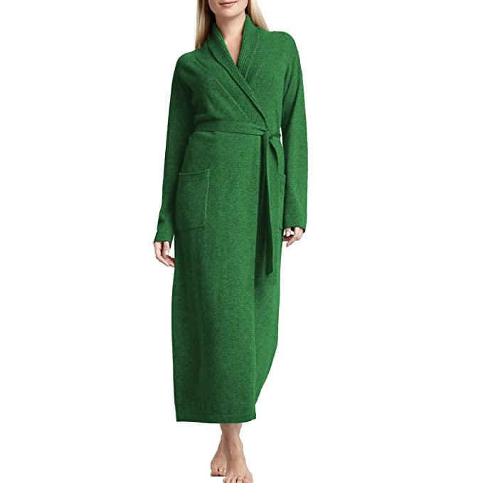 260d092945 Parisbonbon Women s 100% Cashmere Belt Bathrobes Colour Apple Green Size 6