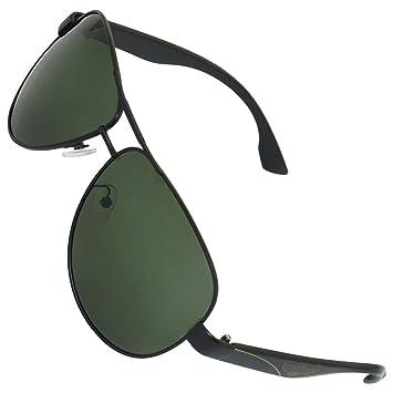 Full Rim verde lente polarizada Gafas de sol de doble puente ...