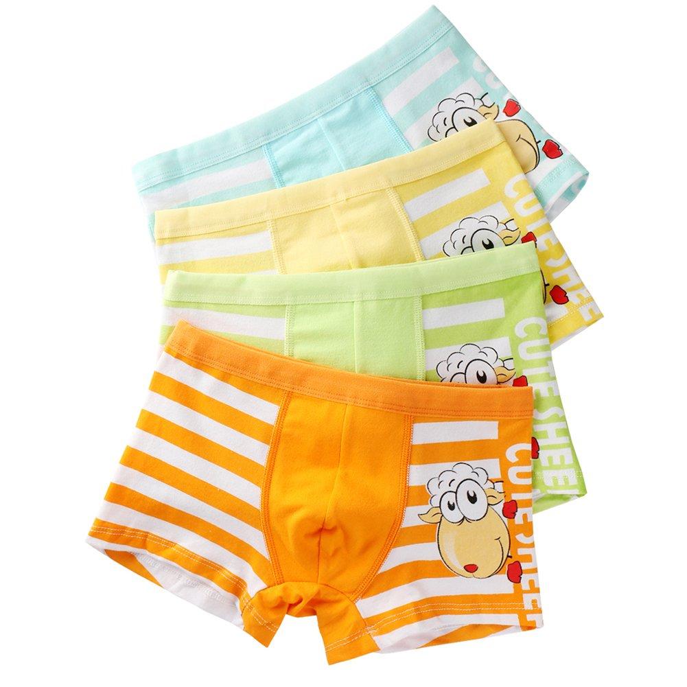 USex Sense Toddler Little Boys' Boxer Brief 12-Pack Cotton Underwear(L, 1606# Pack of 12)