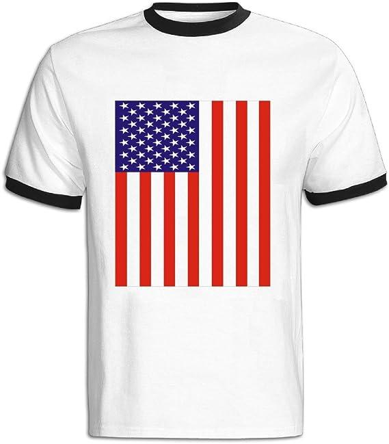 Hombre de béisbol para Custom de manga corta camisas de bandera de Estados Unidos de América: Amazon.es: Ropa y accesorios