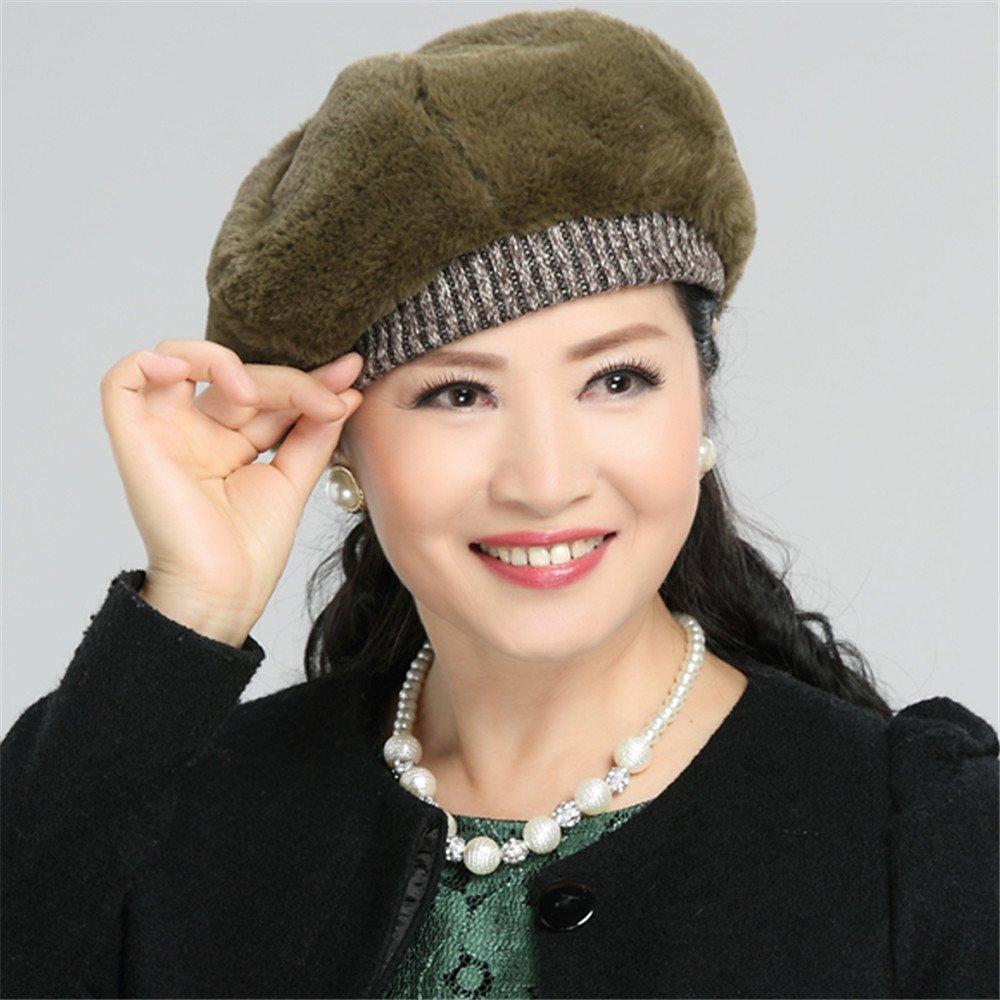 Las mujeres gorro de invierno, Set dama retro casual Cap Ancianos madre Ray limpets Painter moda som...