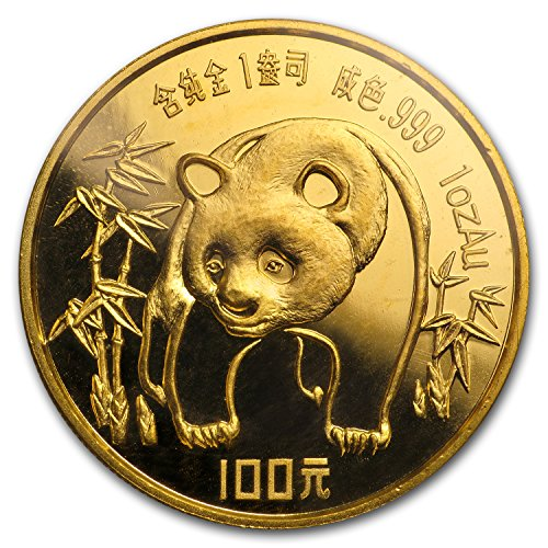 1986 CN China 1 oz Gold Panda Proof (Sealed) 1 OZ About Uncirculated