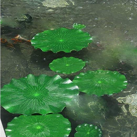 WERTAZ Plantas Artificiales 10 Piezas Decoración para acuarios Artículos para Fiestas Piscina Boda Jardín Hojas flotantes Falsas Estanque Follaje Grande Tanque de Agua para el hogar: Amazon.es: Hogar