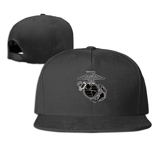 Amazon com: United States Marine Corps Snapback Hat Flat Baseball