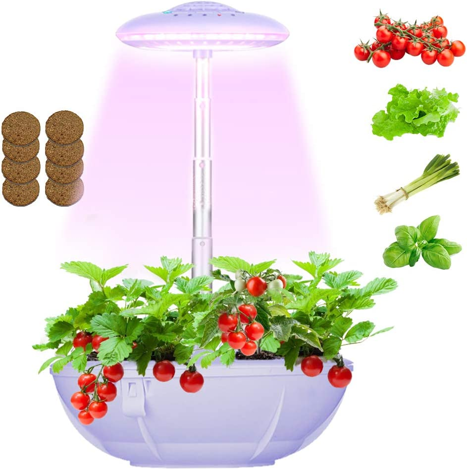 Hydroponics Smart Garden Light, Hydroponics Growing System Indoor Garden Kit, LED Countertop Garden LED Grow Light for Indoor Plants with 3 Pcs Mini Garden Hand Tools - Seeds Not Included