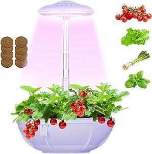 Hydroponics Smart Garden Light, Hydroponics Growing System Indoor Garden Kit, LED Countertop Garden LED Grow Light for Indoor Plants with 3 Pcs Mini Garden Hand Tools - Seeds Not Included