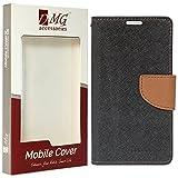 DMG LENVbK5PlusMERCBLKBRW Premium Drop Protection Wallet Case Flip Cover for Lenovo Vibe K5 / Vibe K5 Plus ,(Black/Brown)