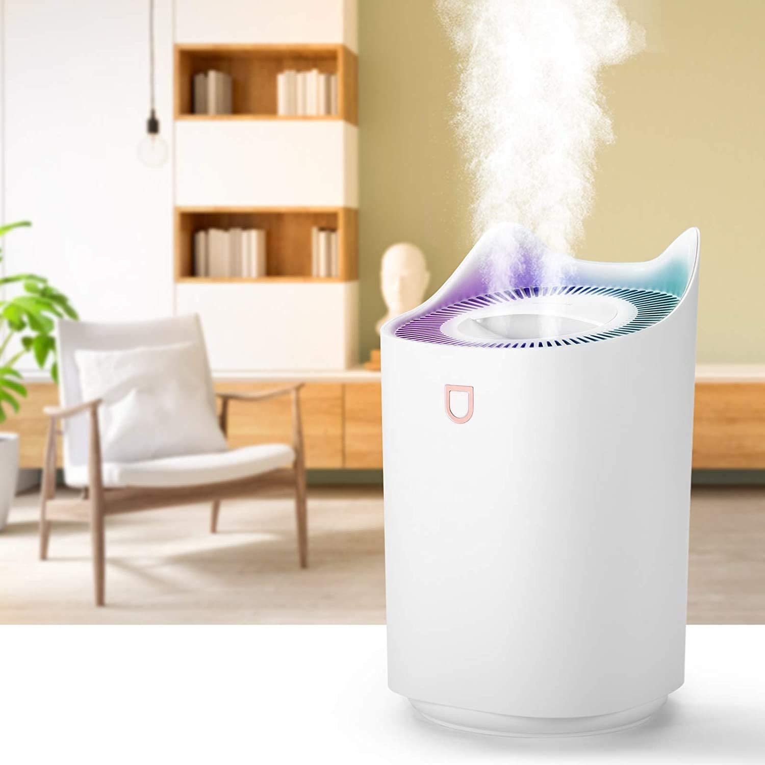 Super Quiet 3 Mist Modes Lasts Up to 30 Hours White GRSTREE 3L Humidifiers for Bedroom,Large Cool Mist Humidifier,Air Humidifier Baby Humidifier for Office,Home Auto Shut-Off