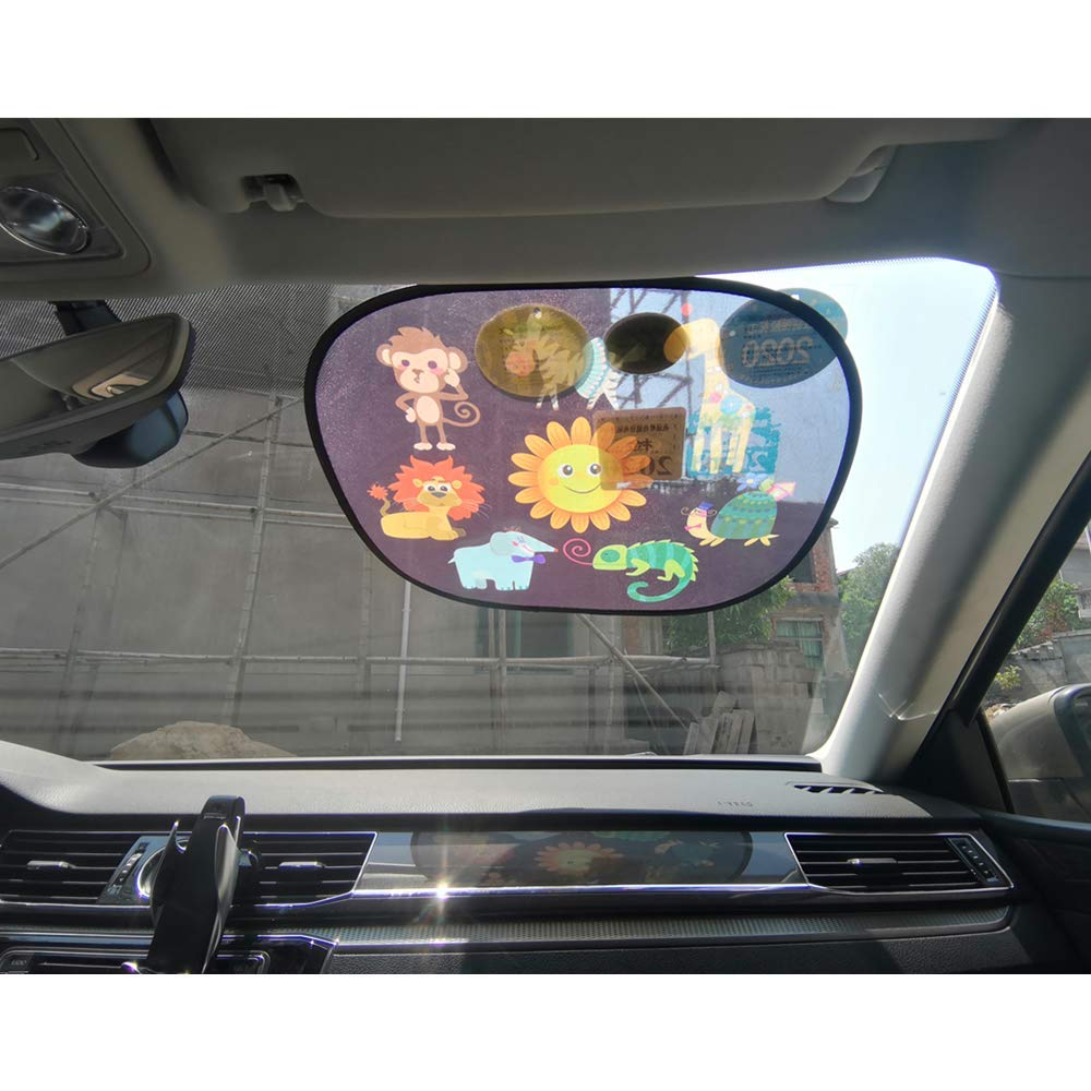 Car Window Shade for Baby,4 Pack Universal Car Shades for Side Windows with Suction Cups - 4 Pack Cling Sunshade for Car Windows Sun Glare and UV Rays Protection