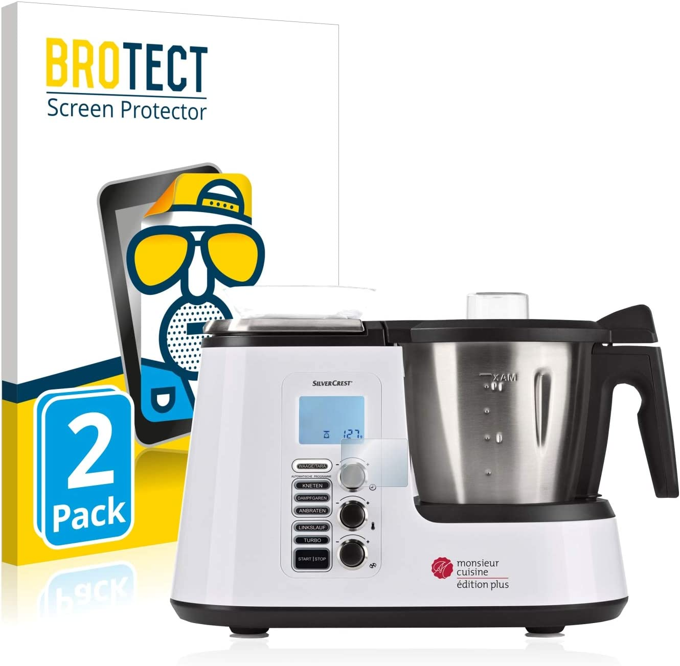 BROTECT Protector Pantalla Anti-Reflejos Compatible con SilverCrest Monsieur Cuisine Edition Plus (2 Unidades) Pelicula Mate Anti-Huellas: Amazon.es: Electrónica