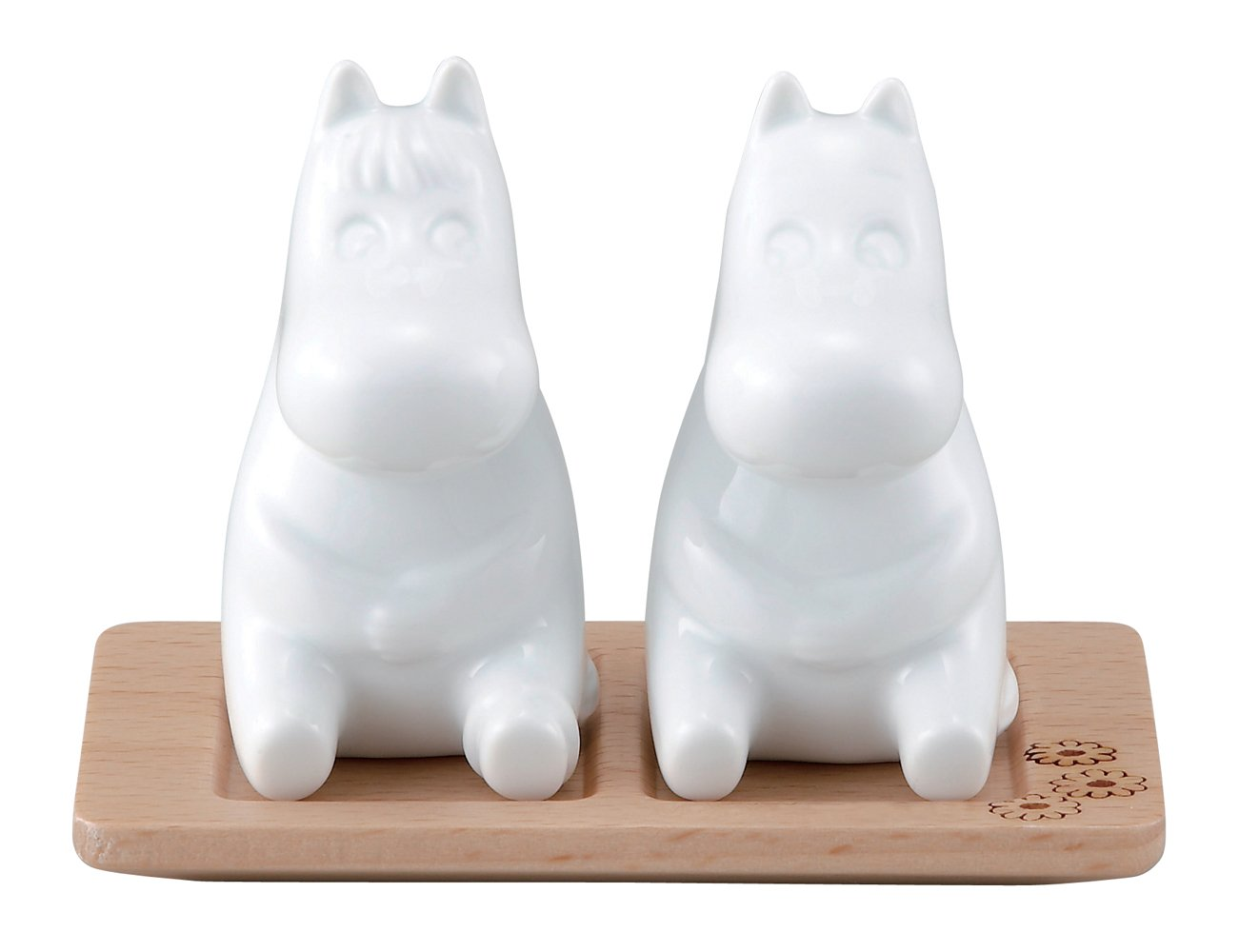 Moomin Salt & Pepper Shakers with Wooden Stand Yamaka MM820-25