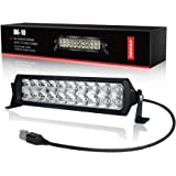 LED Light Bar 10 inch, 4WDKING Screwless Design Waterproof Double Row Off Road Light Bar Combo Beam Mount on Front Bumper and