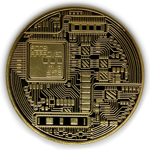 Bitcoin Coins, Set of 3 – Gold, Silver, and Bronze Physical Blockchain Cryptocurrency in Protective Collectable Gift Case, Crafted with Fine Detail and Mirrored Finish