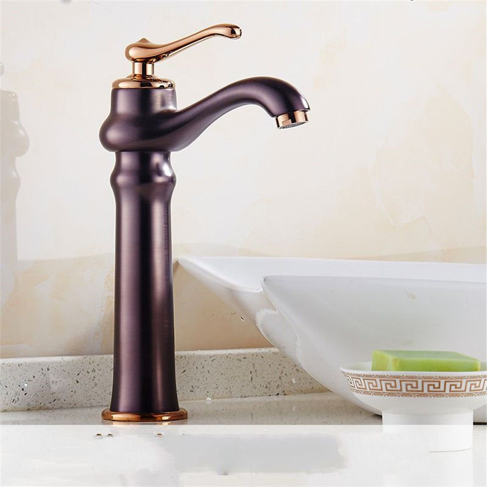 B NewBorn Faucet Kitchen Or Bathroom Sink Mixer Tap The Bronze Basin Cold Water Single Hole pink gold Basin Sink Water Lung C